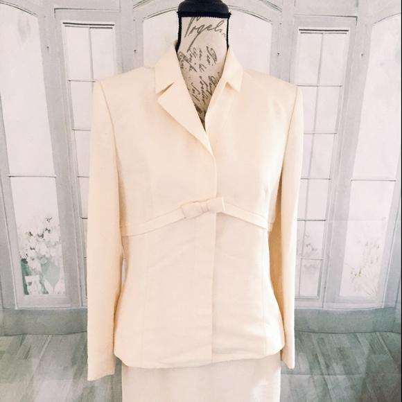 Kasper Dresses 10 Womens Ivory Dress Suit Poshmark